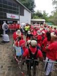 repas avec brumisateur - marche pour la santé mutualité de la Réunion