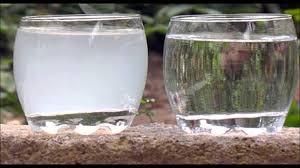 eau calcaire dans un brumisateur, solution