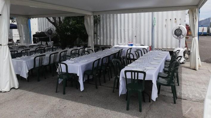 Brumisateur pour repas en terrasse , société ROCS